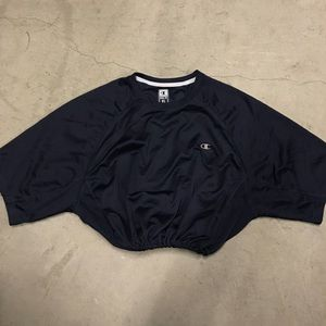 Men's Navy champion drawstring crop
